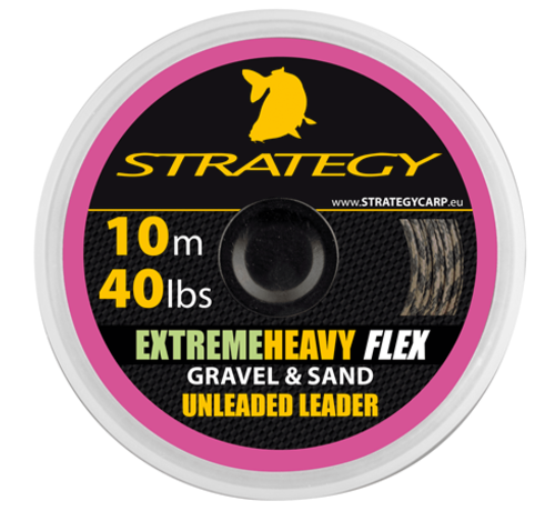 Strategy Strategy Extreme Heavy Flex Gravel & Sand 10 m 40 lbs Unleaded Leader