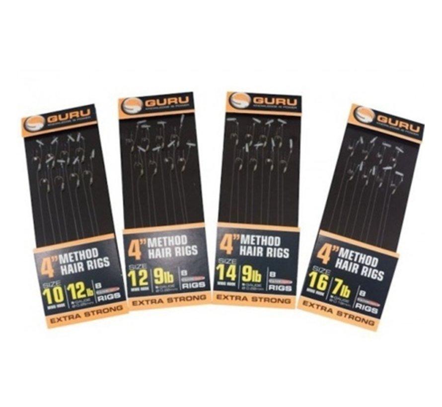 """Guru 4"""" Method Hair Rigs Extra Strong Speedstop - Onderlijn"""