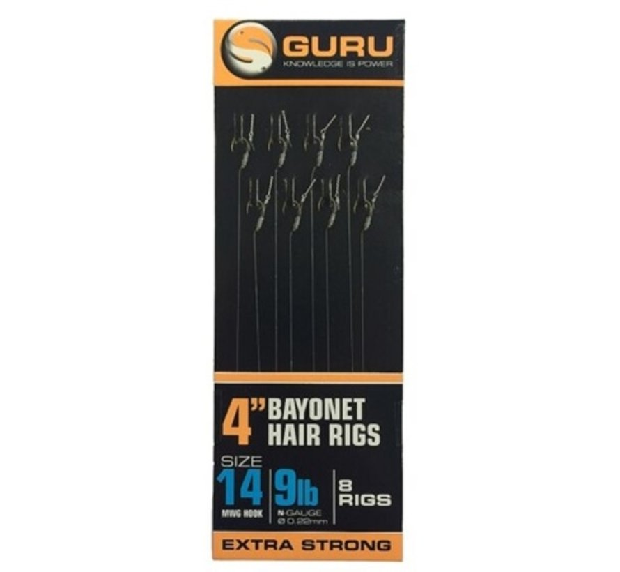 "Guru 4"" Bayonet Hair Rigs - Onderlijn"