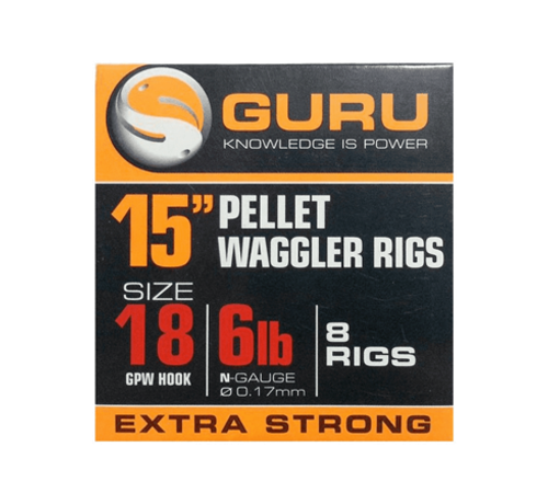 """Guru Guru 15"""" Pellet Waggler Rigs - Onderlijn"""