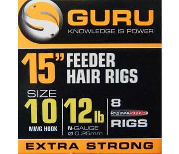 "Guru Guru 15"" Feeder Hair Rigs Speedstop"