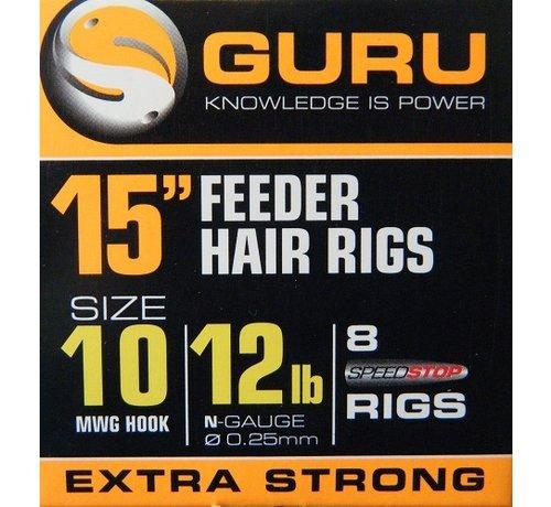 "Guru Guru 15"" Feeder Hair Rigs Speedstop - Onderlijn"