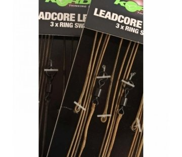 Korda Korda Leadcore Leaders 3 x ring swivel
