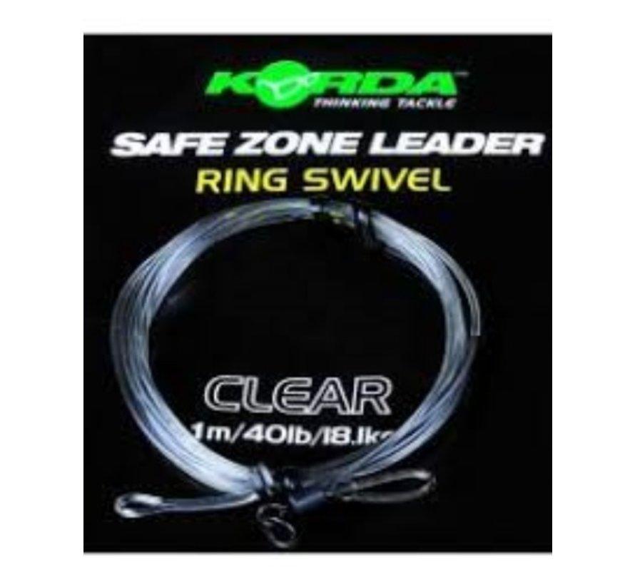Korda Dark Matter Ring Swivel Leader- Clear