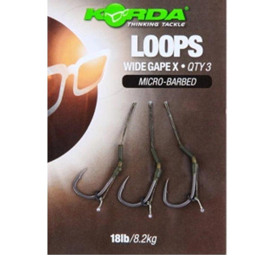 Korda Loop rigs Wide Gape X