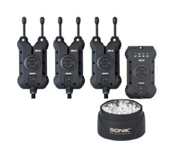 Sonik Sonik SKX 3+1 Alarm + Bivvy Lamp - Beetmelderset