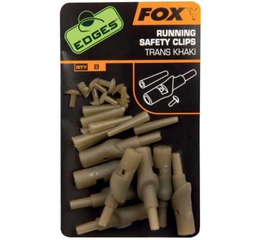 FOX Running Safety Clips - Trans Khaki - Running Rig