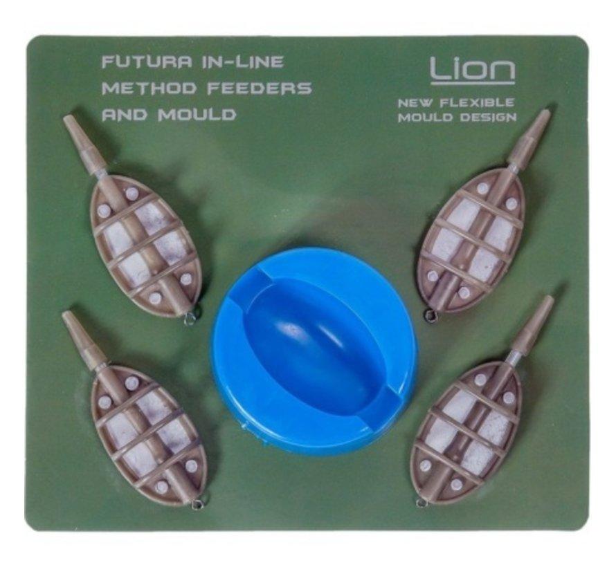 Lion Sports Futura Method Feeder Set (5 stuks) - Feederkorven