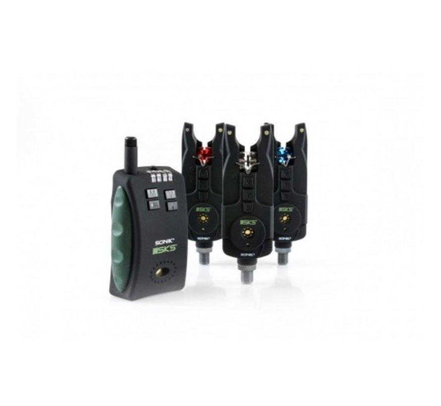 Sonik SKS 3+1 Alarm + Bivvy Light- Beetmelderset