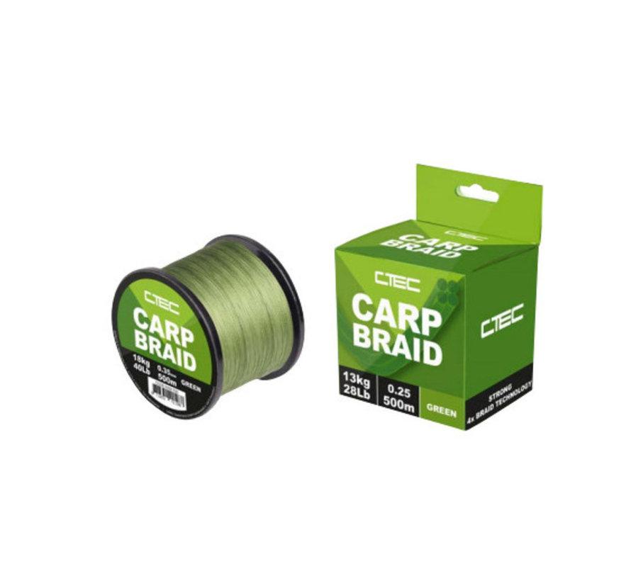 C-Tec Carp Braid - Gevlochten vislijn 500m