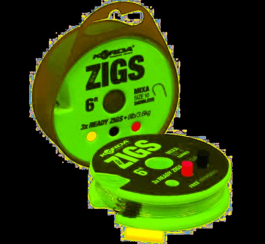 Korda Ready Zigs 3 stuks