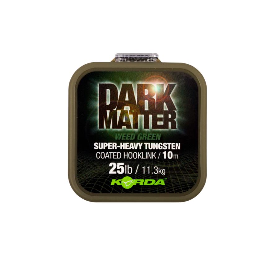 Korda Dark Matter Weedy Green - Super Heavy Tungsten Coated Hooklink 10m
