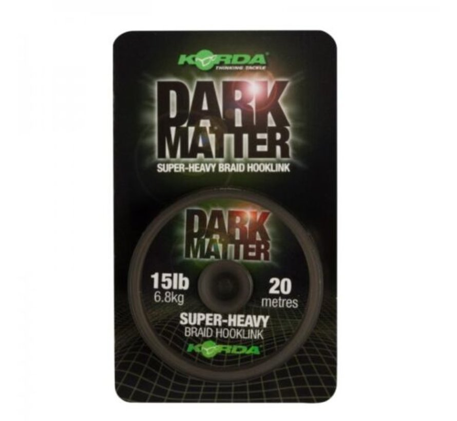 Korda Dark Matter Super Heavy Braided Hooklink 20m