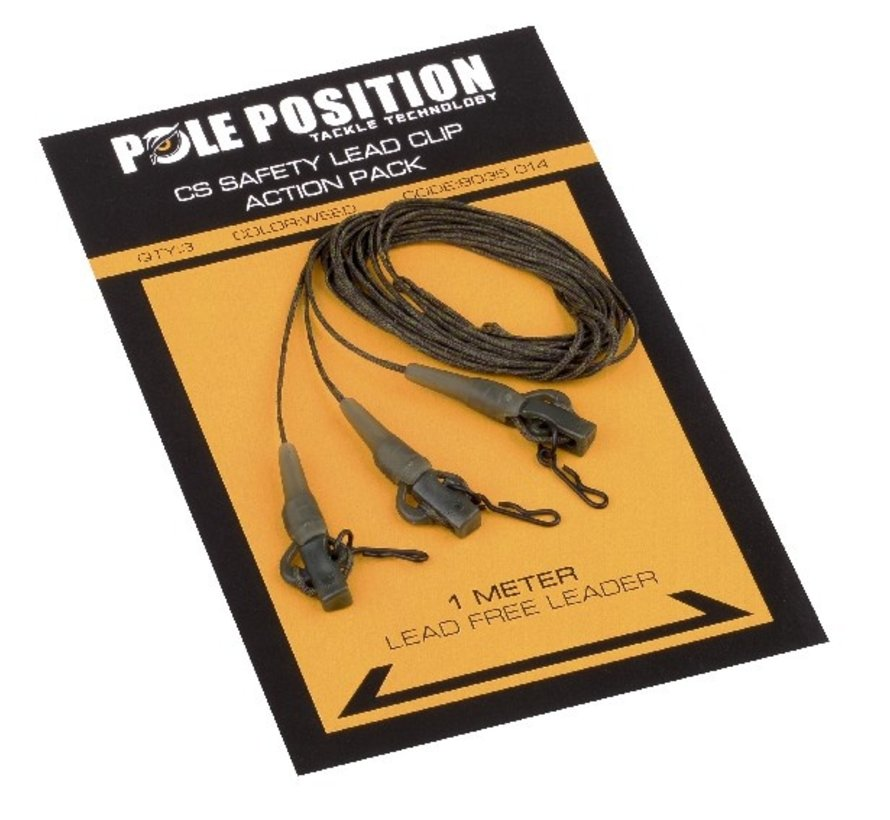 Pole Position CS Safety Lead Clip Action Pack 65LB Weed