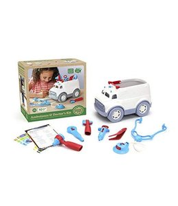 Green Toys ambulance met dokters kit