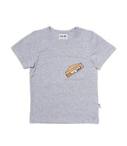 CarlijnQ T-Shirt Sandwich - Grey