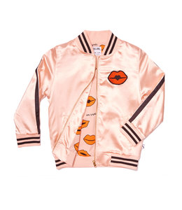 CarlijnQ Bomber pink satin