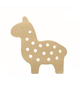 Brikivroomvroom Lama rijg speelgoed Hout