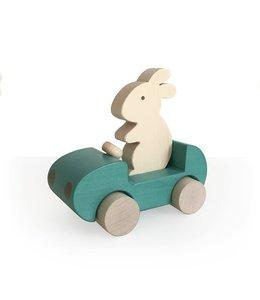 Brikivroomvroom Bunny Car - Turquoise