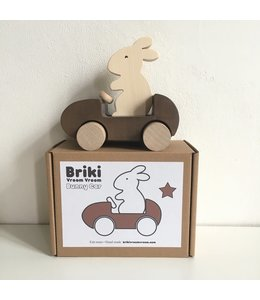 Brikivroomvroom Bunny Car - Brown