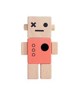 Brikivroomvroom Baby Robot - Coral