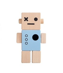 Brikivroomvroom Baby Robot - Blue