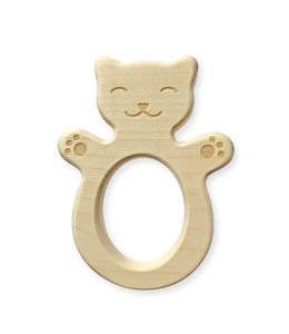 Brikivroomvroom Wooden teether Cat