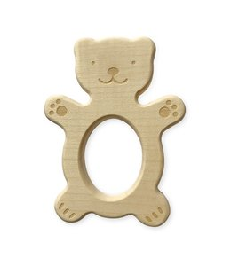 Brikivroomvroom Wooden Teether Bear