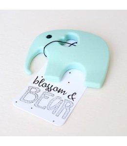 Blossom&Bear Bijtring Olifant mint