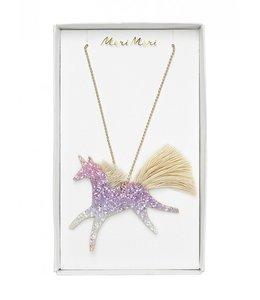 MeriMeri Unicorn glittered necklace
