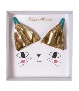 MeriMeri Gold cat ear hair clips