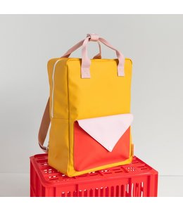 Sticky Lemon Backpack Large Warm Yellow + Soft pink + Sporty Red