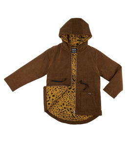 CarlijnQ Corduroy Parka (Lined with spotted animal)