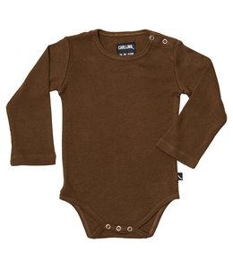 CarlijnQ Basics - bodysuit - brown / rib