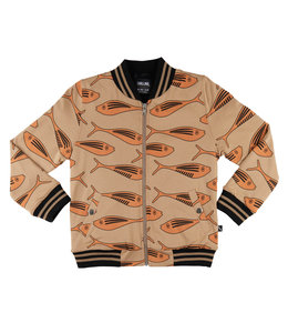 CarlijnQ Gold fish - bomberjacket (lined with black fur)