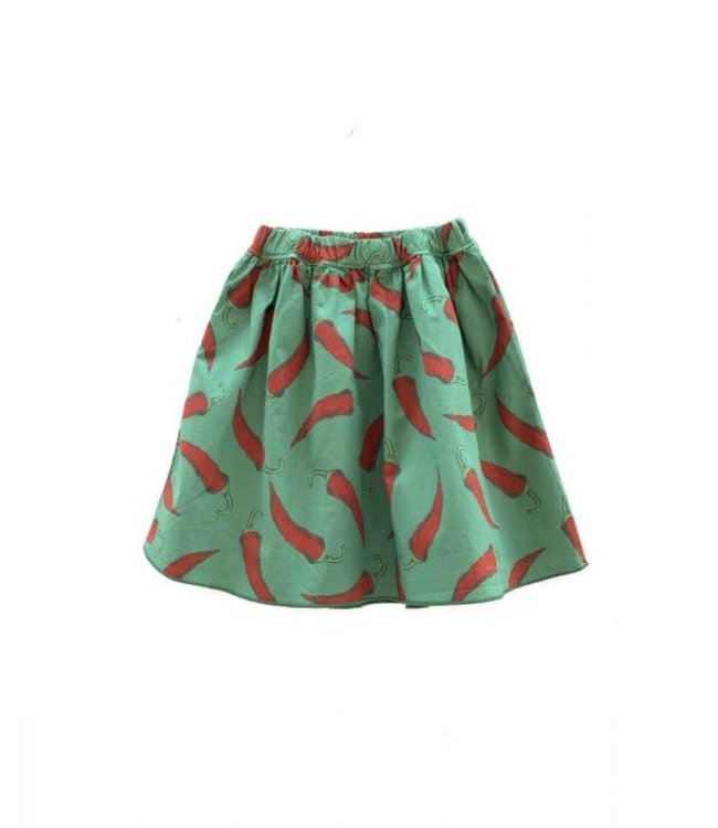 LongLiveTheQueen LongLiveTheSkirt Green upcycled peppers