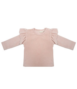 Little Indians Longsleeve Ruffle Faded Pink Velour