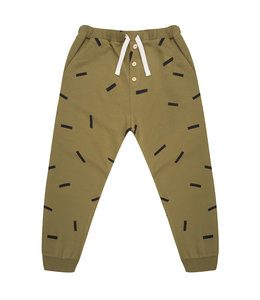 Little Indians Pants Strokes Olive