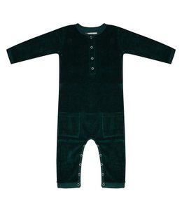 Little Indians Jumpsuit pine Trees Green
