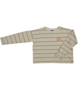 Bonmot Relax long sleeved T-shirt double stripe Mushroom