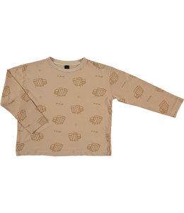 Bonmot Long sleeved T-shirt zebras Maple sugar