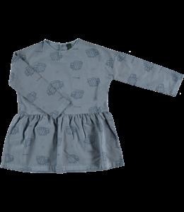 Bonmot Long sleeved dress zebras Deep blue