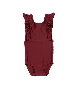 Maed for Mini Bordeaux Badger Swimsuit