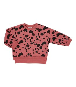 Daily Brat Dalmation sweater rosewood