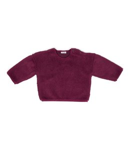 Daily Brat Teddy oversized sweater mulberry
