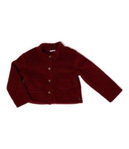 Daily Brat Jamie teddy jacket maroon