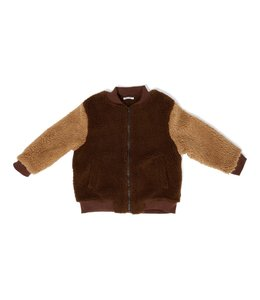 Daily Brat Billy teddy bomber jacket cone brown