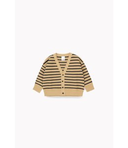 Tiny Cottons SMALL STRIPES CARDIGAN  sand/true navy