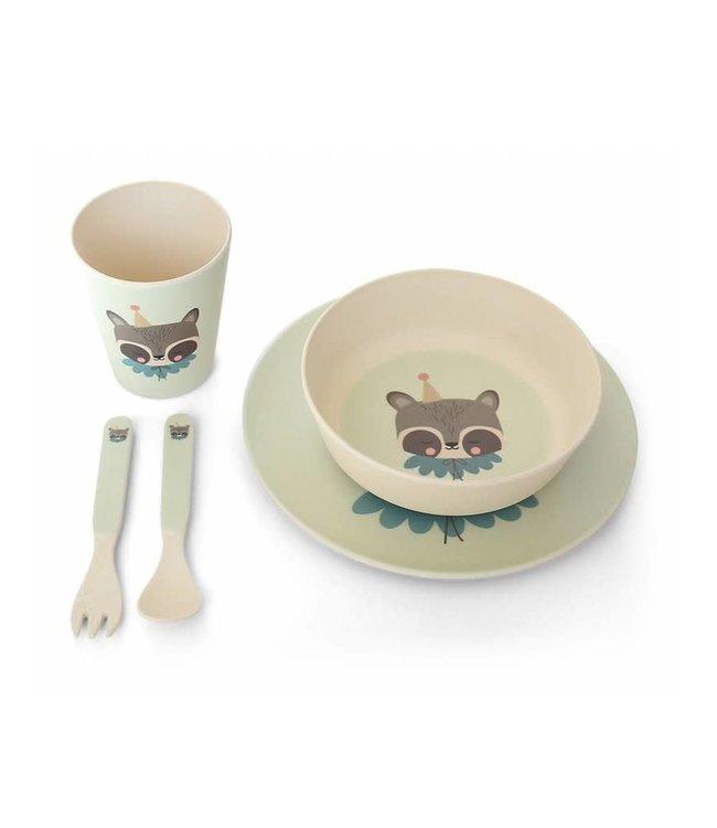 Ay Kasa - Eef Lillemor Bamboo Eco Dinner Set – circus raccoon