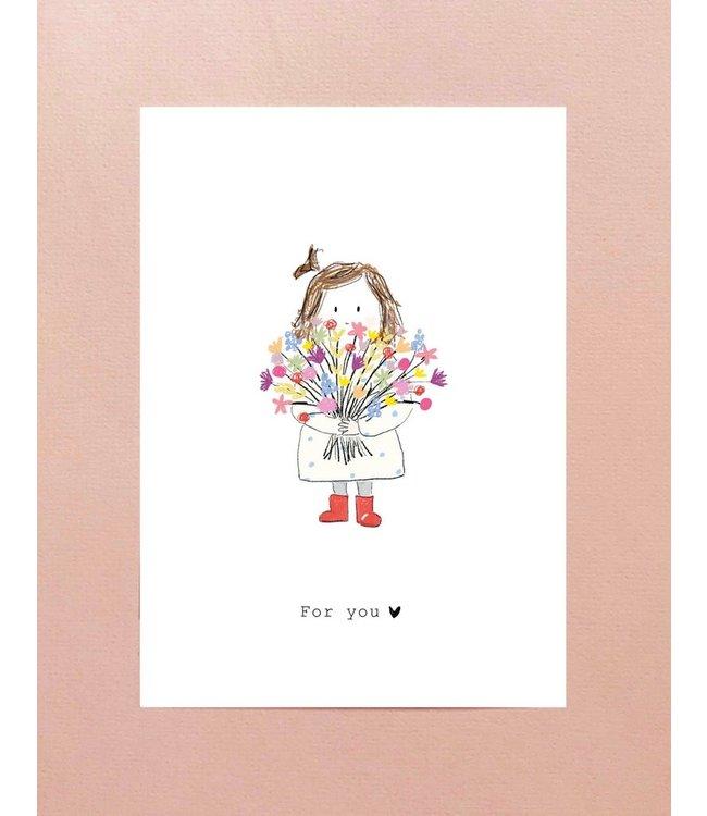 Nadine Illustraties Kaartje For you